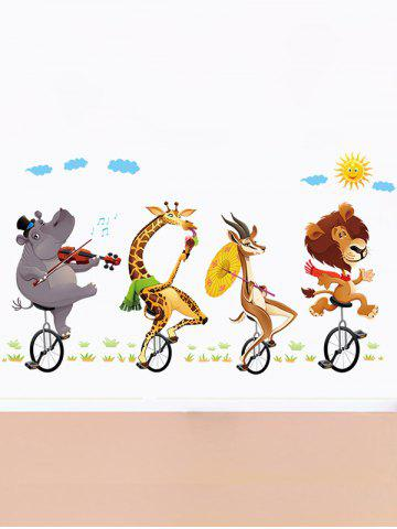Trendy Kids Room Animal Cartoon Wall Art Sticker - 60*90CM COLORMIX Mobile