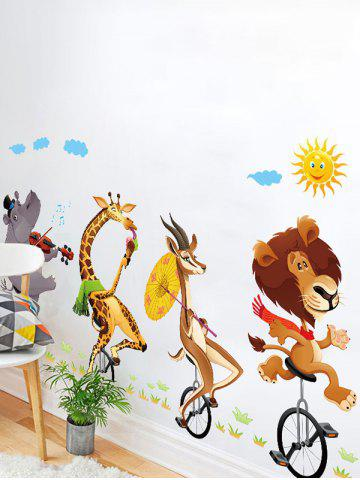 Shop Kids Room Animal Cartoon Wall Art Sticker - 60*90CM COLORMIX Mobile
