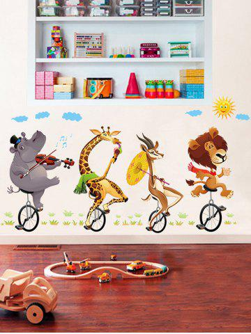 Outfit Kids Room Animal Cartoon Wall Art Sticker - 60*90CM COLORMIX Mobile