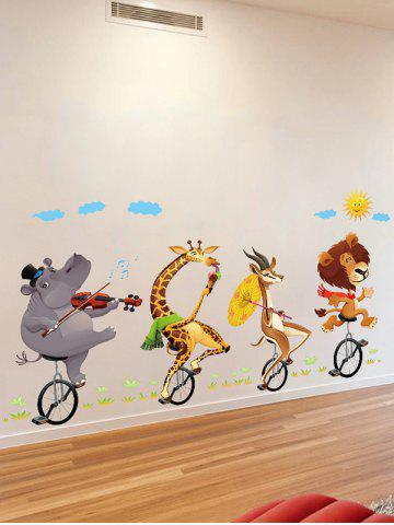 Online Kids Room Animal Cartoon Wall Art Sticker - 60*90CM COLORMIX Mobile