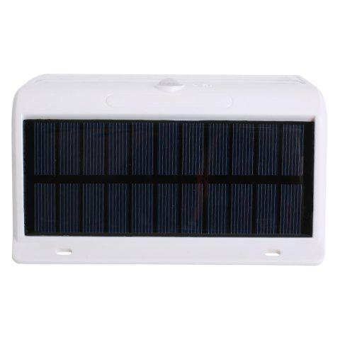 Hot Human Body Induction Solar Powered LED Wall Lamp - WHITE  Mobile