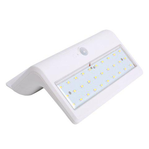 Store Human Body Induction Solar Powered LED Wall Lamp - WHITE  Mobile