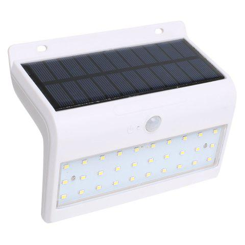 New Human Body Induction Solar Powered LED Wall Lamp - WHITE  Mobile