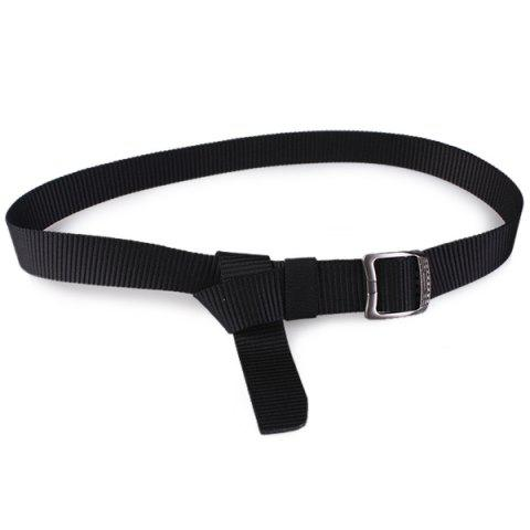Online Rectangle Metal Buckle Canvas Belt