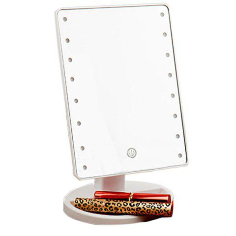 Buy Adjustable Light 16 LEDs Touch Screen Desktop Makeup Mirror - WHITE  Mobile