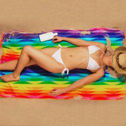 Rainbow Striped Geometric Printing Chiffon Beach Throw