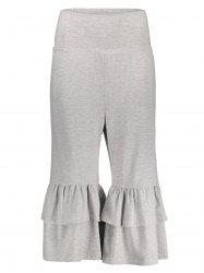 High Waisted Layered Capri Palazzo Pants