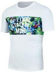 Tropical Floral Print Graphic Hawaiian T-Shirt -