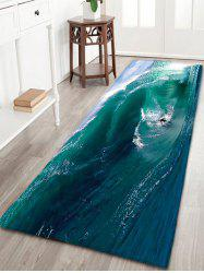 Surfing Water Absorption Flannel Bathroom Rug