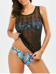 Lace See Thru Tank Cover Up
