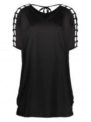 Oversized Hollow Out Mini Dress