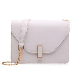 Faux Leather Chain Cross Body Bag