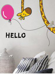 Removable Cartoon Giraffe Bedroom Wall Sticker