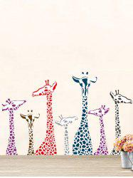 Giraffe Animal Vinyl Wall Stickers For Kids Room