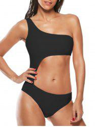One Shoulder Cut Out One-Piece Swimsuit