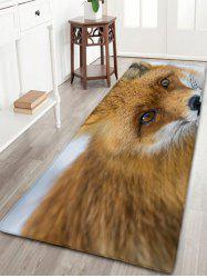 Wolf Flannel Skidproof Water Absorption Bathroom Rug