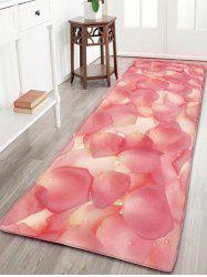Pétales Print Flannel Water Absorption Bathroom Rug - ROSE PÂLE