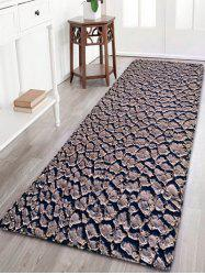 Dry Land Print Skidproof Flannel Bathroom Rug