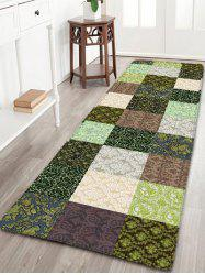 Flannel Skidproof Plaid Printed Bathroom Rug