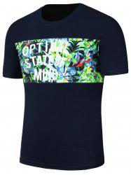 Impression Floral Tropicale T-shirt Hawaiian