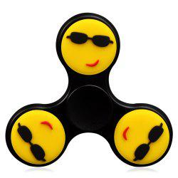 Fiddle Toy Stress Reliver Emoticon EDC Fidget Spinner - BLACK