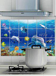 Anti Oil Sea World Wall Sticker For Kitchen