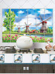Pastoral Anti-oil Aluminum Foil Kitchen Wall Sticker