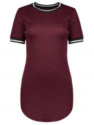 Crew Neck Mini Bodycon Dress