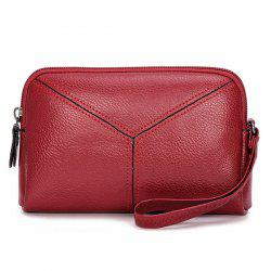 Pebble PU Leather Clutch Wristlet
