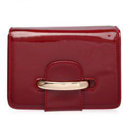 Patent Leather Flap Crossbody Bag