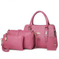 Geometric 4 Pieces Handbag Set