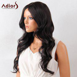 Adiors Long Center Parting Layered Wavy Synthetic Wig - BLACK 02#