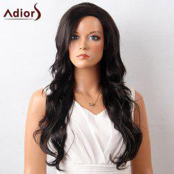 Adiors Oblique Bang Layered Long Wavy Lace Front Synthetic Wig