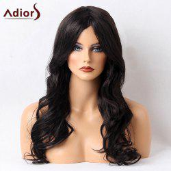 Adiors Long Perm Shaggy Side Bang Wavy Synthetic Wig - BLACK 02#