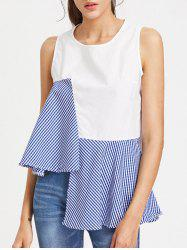 High Low Checked Tank Top
