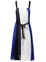 Plus Size Tie Belt Flowing Dress