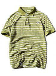 Striped Embroidered Polo Shirt