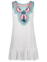 Tassel Embroidered Cover Up Dress