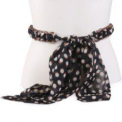 Polka Dot Chiffon Decorative Waist Belt