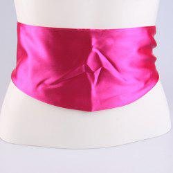 Wide Imitation Silk Ribbon Corset Belt - TUTTI FRUTTI