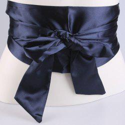 Wide Imitation Silk Ribbon Corset Belt -