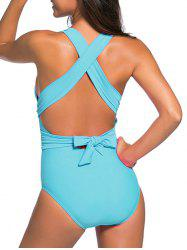 Cross Back Wrap One-Piece Swimsuit