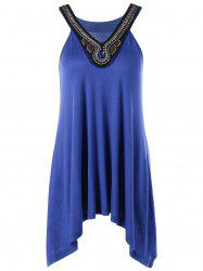 Beading Embellished Tunic Top