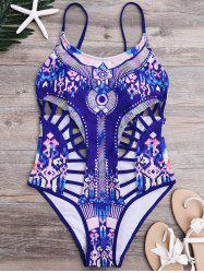High Cut Strappy One-Piece Swimsuit