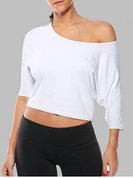 Cold Shoulder Gym Work Out Cropped T-Shirt