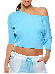 Cold Shoulder Work Out Cropped T-Shirt
