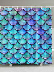 Waterproof Mermaid Scale Print Bathroom Shower Curtain