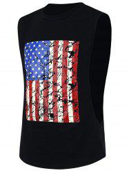 4th of July Workout Distressed American Flag Tank Top