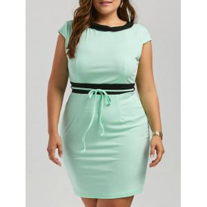 Plus Size Mini Two Tone Pencil Work Dress