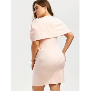 Longueur au genou Longueur au genou Bodycon Caped Formal Dress -